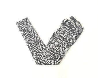 90s Zebra Print Skinny Pants