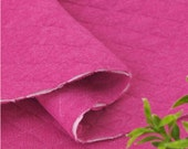 Quilted Knit Fabric Pink By The Yard