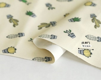 Laminated Cotton Fabric Cactus Beige By The Yard