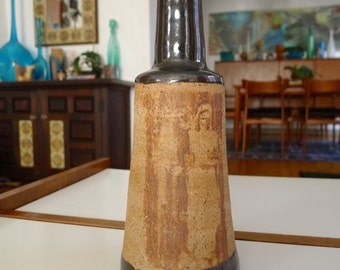 Pottery Vase by Espinosa, Mid Century Modern Studio Art Pottery Vase, Puerto Rico