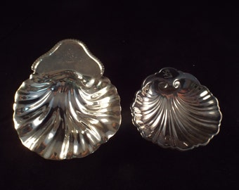 2 Shell Dishes with same Hallmark, Lion Rampant, Castle, Crown, Vintage Serving