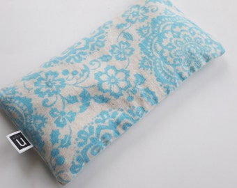 Eye Pillow - Organic Lavender & Flax - Soft Blue and Cream