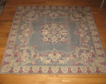 Splendid,French Country Floral Hand Loomed Tapestry Wall Art Hanging/Area Rug...