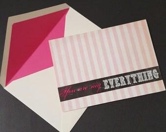Anniversary Card   Valentines day Card   Matching envelope   Love   Wedding Shower Card