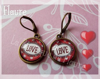 "Earrings ""love"""