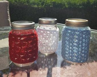 Crochet Lace Mason Jar Covers