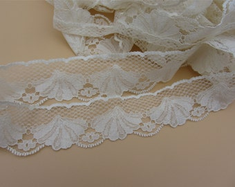 champagne lace trim 8yards,shells lace trimming,shell lace ribbon