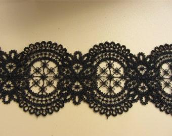 6cm Black lace trim for DIY sewing,DIY lace trim