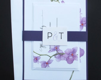 Printable Lilac Orchid Wedding Invitation Suite- Template/Digital Download PDF
