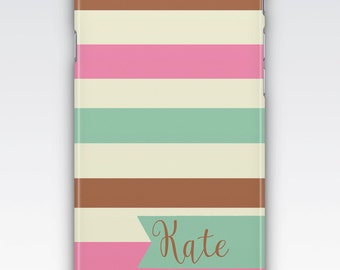 iPhone 6s Case, iPhone 6 Plus Case, iPhone 5s Case, iPhone SE Case, iPhone 5c Case, iPhone 7 case, Neopolitan Stripes Personalised Case