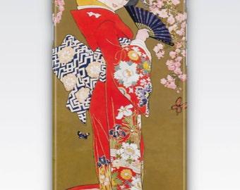 Case for iPhone 8, iPhone 6s,  iPhone 6 Plus,  iPhone 5s,  iPhone SE,  iPhone 5c,  iPhone 7  - Vintage Art Deco Geisha iPhone