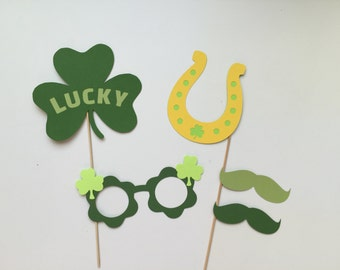 St. Patrick's Day Photo Booth Prop Holiday Photo Booth Props Set of 5