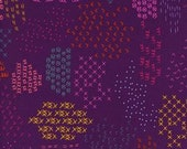 Fat Quarter Macrame Pattern Guides in Grape by Rashida Coleman-Hale for Cotton and Steel