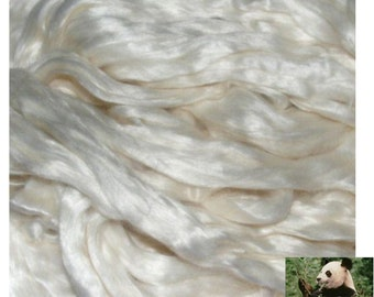 ECO FRIENDLY BAMBOO fibre for spinning felting silk paper 400 grams