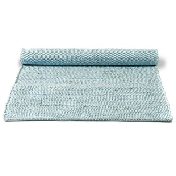 Blue And White Scandinavian Rug: Plain Light Blue Scandinavian Rag Rug By Skandihome On Etsy