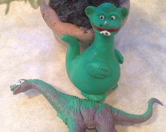Vintage Green Dino and Dragon