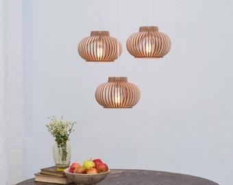 wooden lamp / lamp / ceiling lamp / pendant lamp / lighting / light / woody lamp / wood / natural wood