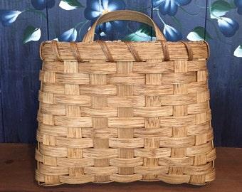 Handmade Basket, Large Pocket Basket, Wall Basket, Mail Basket, Hanging Basket, Flower Basket, Made in USA