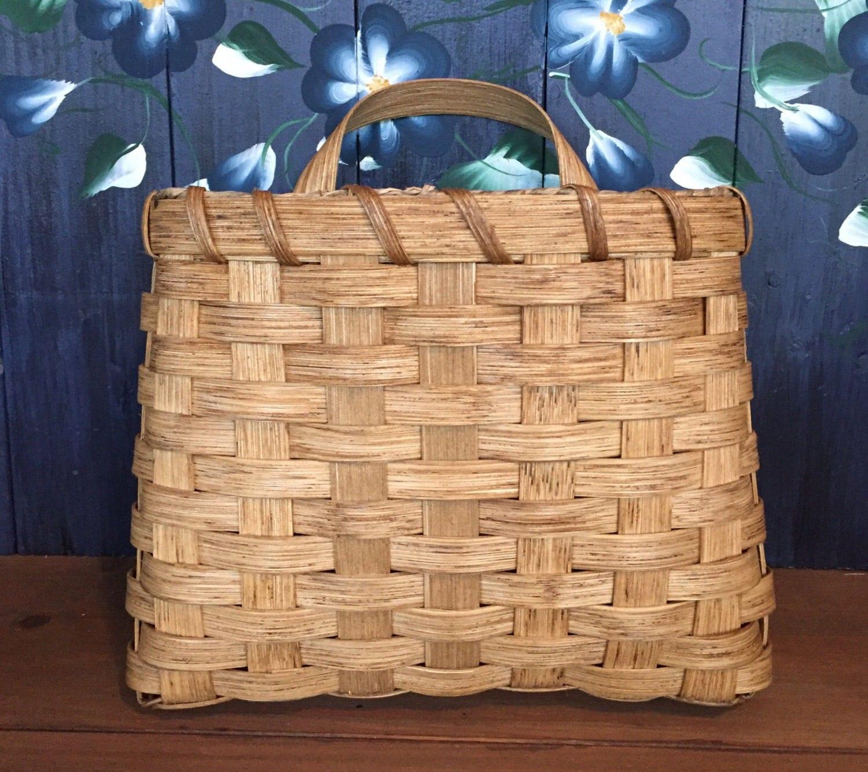 handmade basket large pocket basket wall basket mail. Black Bedroom Furniture Sets. Home Design Ideas