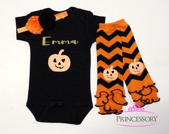 baby Halloween Outfit, Baby Girl Halloween Outfit, Baby girl halloween costume, baby girl halloween clothes, baby girl halloween leggings