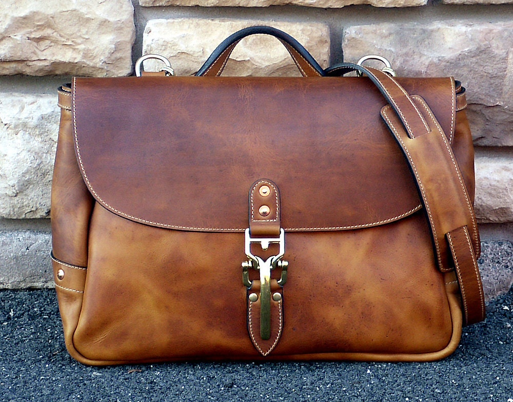 Leather Suppliers Kenya Mail: Soho 16 Classic Mail Bag English Tan Horween Dublin