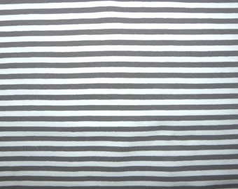 Fabric - jersey fabric - Dark grey engineered stripe knit
