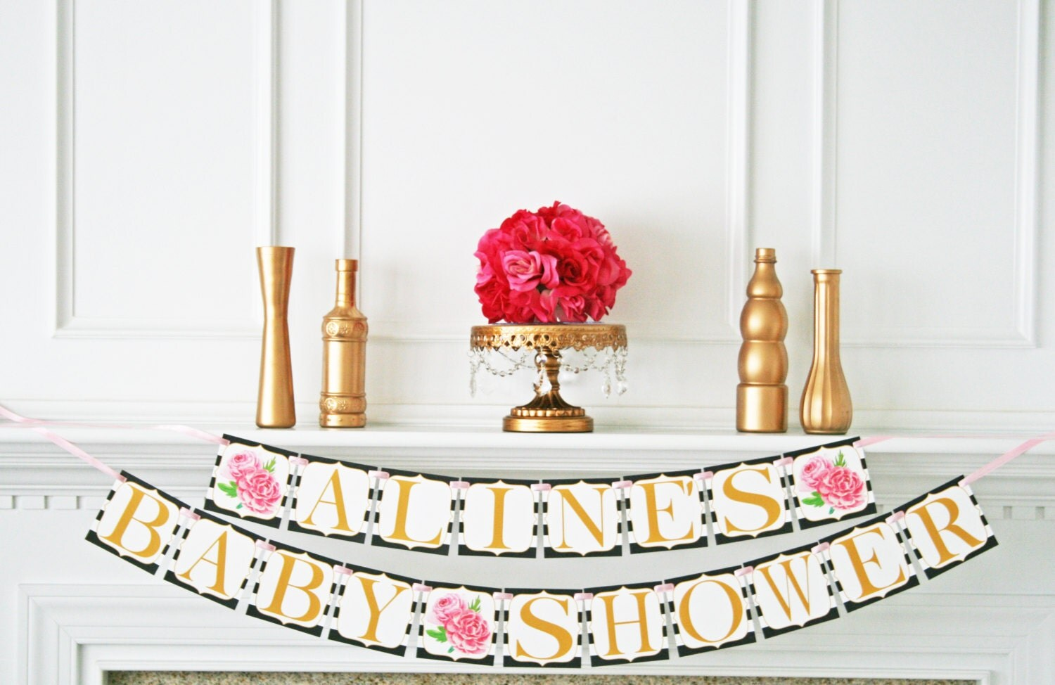 kate spade inspired baby shower decoration baby shower