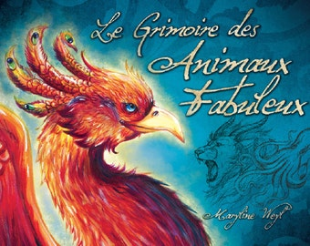 "Book ""the grimoire of fabulous animals"" Phoenix"