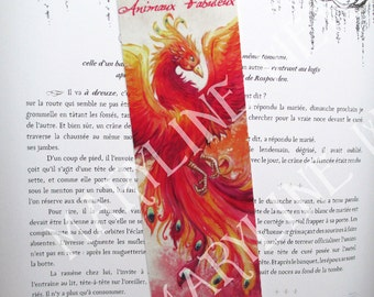 Bookmark Phoenix Bird of fire
