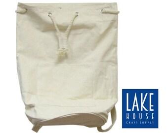 "20"" Natural Drawstring Duffle Bag Plain. Large Plain Canvas Backpack 20""."
