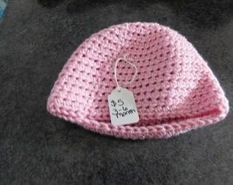 Pink Hat 3-6 month