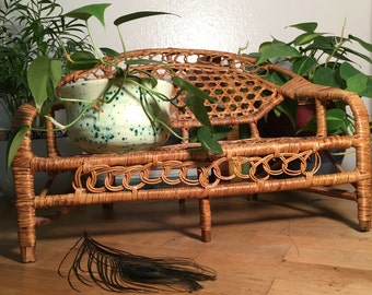 Wicker Couch for Plants // Vintage / Small