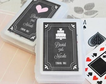 Chalkboard Wedding or Party Personalized Playing Cards - set of 24