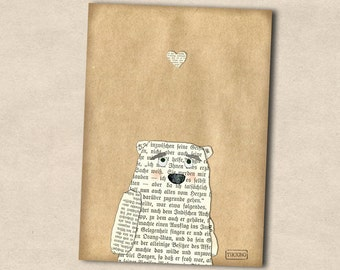 Postcard: in love bear