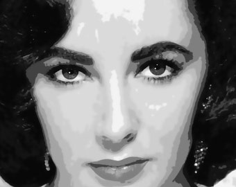 Stunning Elizabeth Taylor Pop Art Paint By Number Kit