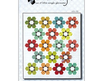 Pattern - Hexie Garden Quilt Pattern by Atkinson Designs (ATD172) Paper Pattern