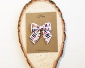 Sailor Bow - Paint Stripes Bow in Small, Medium, and Large on Clip or Elastic