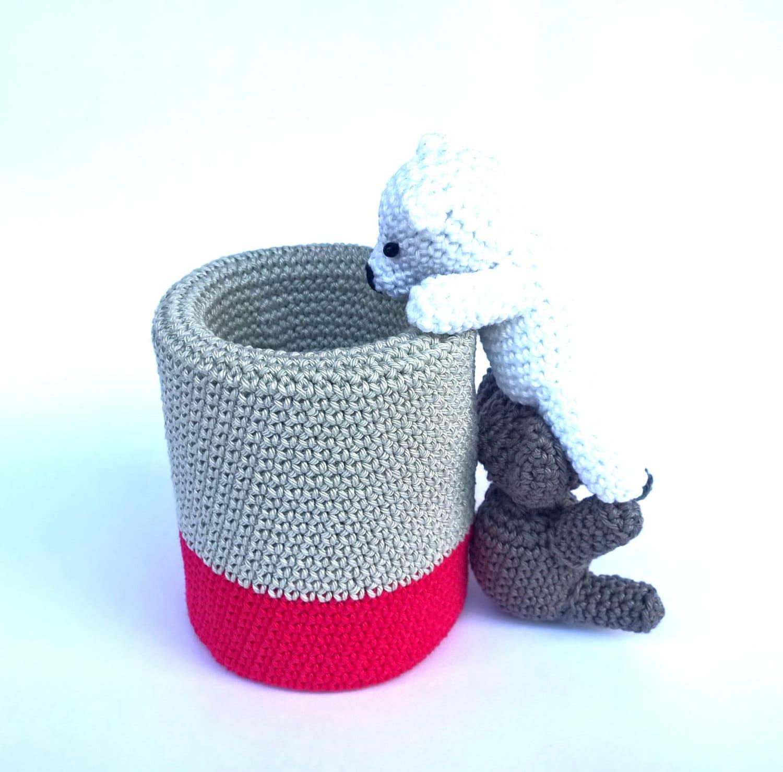 Captivating Crochet Pen Holder, Cute Desk Accessories, Amigurumi Pencil Holder, Cute  Office Decor