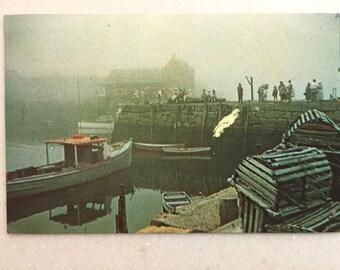 Postcard Fog Bound Rockport Cape Ann Harbor MA 1973