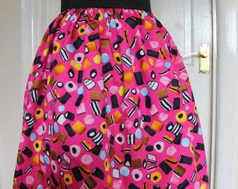 Pink Liquorice Treats Inspired Elasticated Skirt