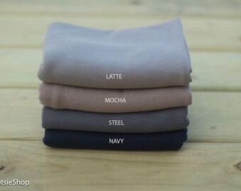 Stretch Sweater Knit Wrap, Newborn Wrap, Baby Wrap, Photography Props, Navy Knit Wrap, Mocha Knit Wrap, Steel Knit Wrap, Latte Knit Wrap