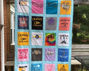 Graduation memory tshirt quilt