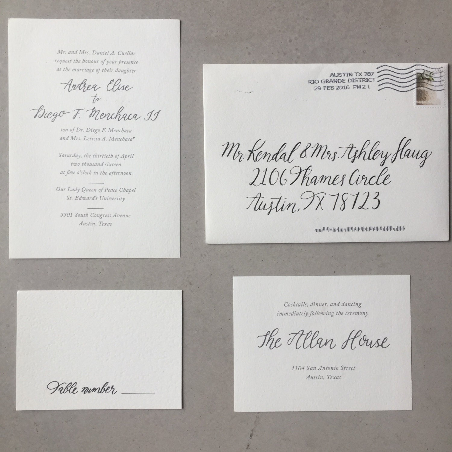 Hand Drawn Calligraphy Wedding Invitations Can You Hand