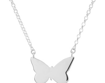 Sterling silver Butterfly Necklace, Rose gold necklace, Gold necklace, Butterfly pendant, Butterfly charm, Butterfly jewelry,Animal jewelry