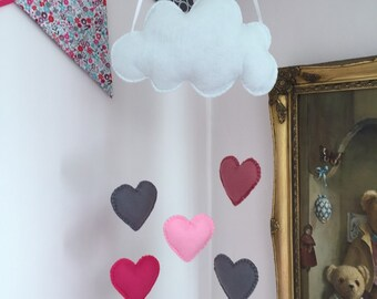 Felt Cloud Baby Mobile