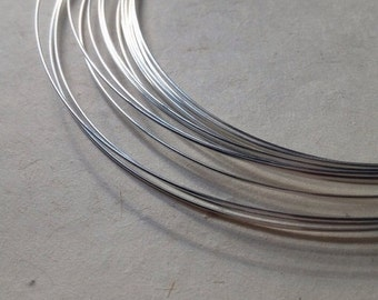 10% off FIVE (5) Feet - 925 Solid Sterling Silver Round 22 Gauge DEAD SOFT Wire - 5 Feet