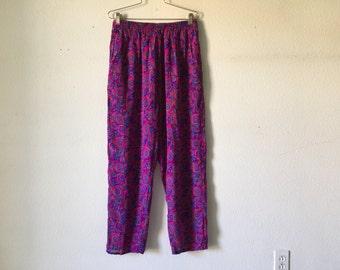 FREE SHIPPING Vintage Pants - 80s Silk