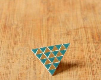 Abstract Triangle Brooch