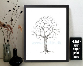wedding, babyshower, baptism, retirement, fingerprint tree, digital download, home decor