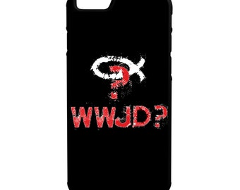 What Would Jesus Do? iPhone Galaxy Note LG HTC Hybrid Rubber Protective Case